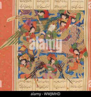Matla ul-Anwar (steigende Ort der Lichter) von Amir Khusrau Dihlavi, C. 1500. In der Sammlung der Biblioth Gefundenè que Nationale de France. - Stockfoto