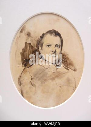 Portrait von Ehreéde Balzac (1799-1850), C. 1829. In der Sammlung von Mus Gefundenée des Beaux-Arts de Tours. - Stockfoto