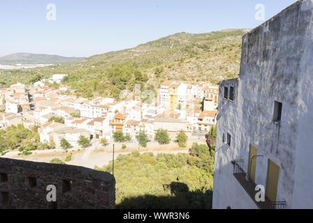 Villa weiße Häuser, typisch Spanisch, Villafames Landvilla in der Region Castellon, Valencia in Spanien - Stockfoto