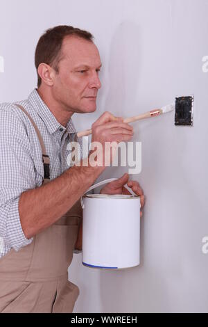 Bild Farbe Schalter Mann - Stockfoto