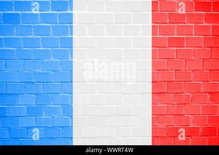 Flagge gemalt auf einem brickwall können als Hintergrund verwendet werden - Stockfoto