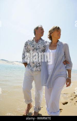 Paar am Strand Stockfoto