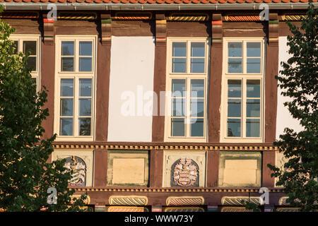 Altes Fachwerkhaus in Halberstadt Harz - Stockfoto