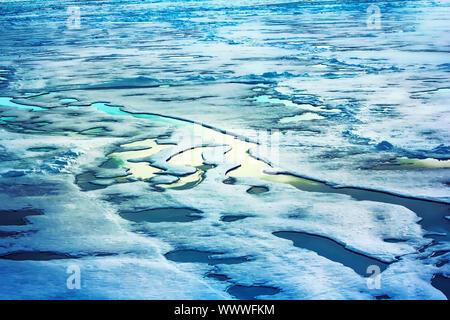 Eis am Nordpol und in der Nähe von 2016 - Stockfoto