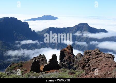 Pico Bejenado und Cumbre de Vom Roque de Los Muchachos, La Palma - Stockfoto