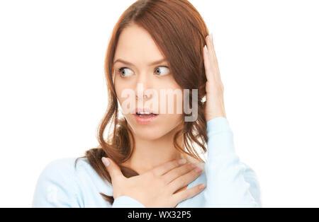 überrascht Frau Gesicht - Stockfoto