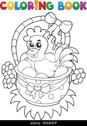 Malbuch mit Ostern Thema 8. - Stockfoto