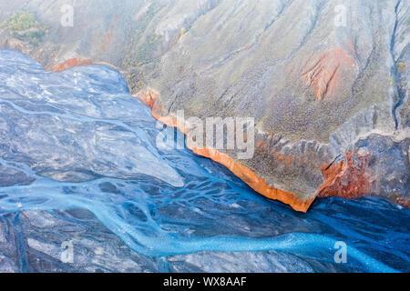 Xinjiang anjihai Grand Canyon closeup - Stockfoto