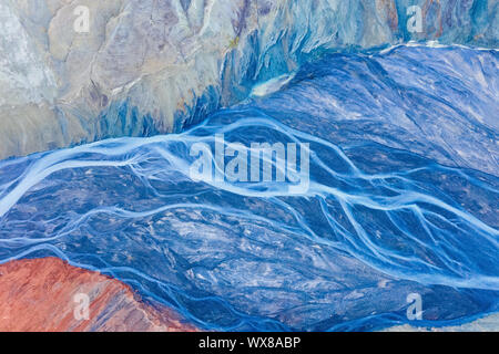 Blue Canyon Riverbed - Stockfoto