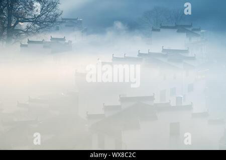 Schöne shicheng Dorf closeup im Herbst - Stockfoto