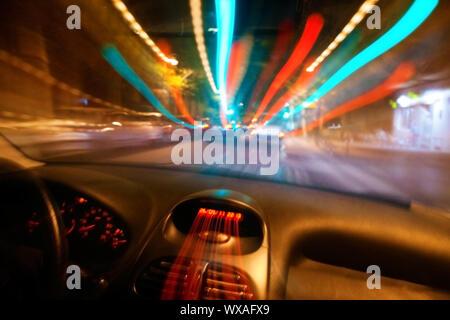 Abstraktes Bild von Auto-Speed-Konzept - Stockfoto