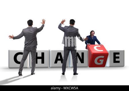 Unternehmer im Wandel und chance Konzept - Stockfoto