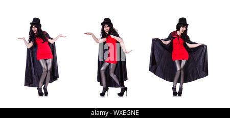 Satan Halloween Konzept isoliert auf weiss - Stockfoto