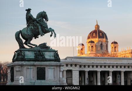 Wien/Wien, Österreich - Pferd und Reiter Memorial. - Stockfoto