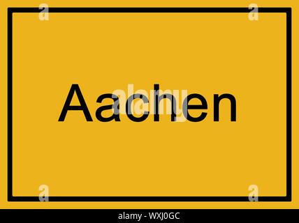 Typisch deutsche gelb Stadt zeichen Augsburg - Stockfoto