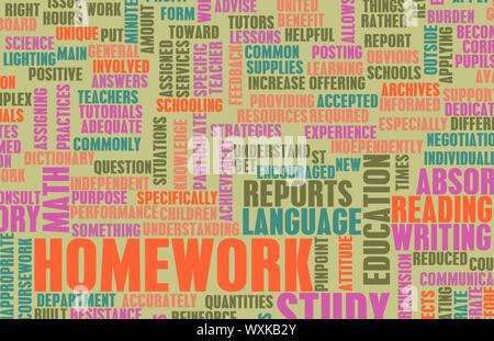Hausaufgaben von der Schule als ein Studienkonzept - Stockfoto