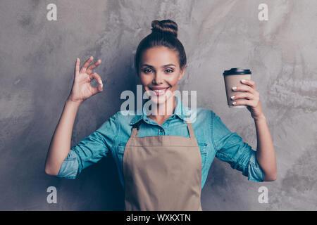 Werbung, Pause, entspannen, Konzept. Schön, attraktiv, - Stockfoto