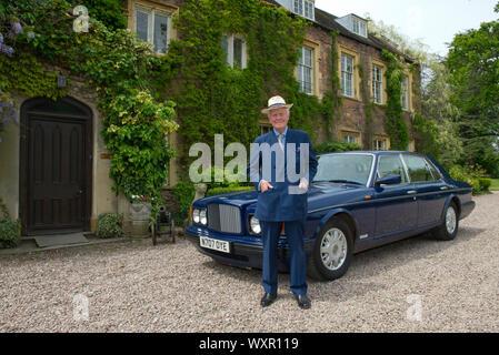 Von Sir Benjamin Slade, 7. baronet an seinem Haus, Maunsell Haus, Bridgwater, Somerset, Großbritannien - Stockfoto