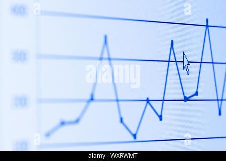Balkendiagramm auf dem LCD-Bildschirm - Stockfoto