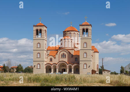 Agios Charalambos Kirche im Dorf Erimi im Süden Zyperns. - Stockfoto