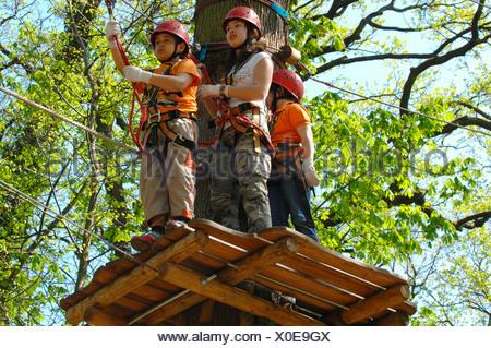 Kletterausrüstung Kinder : Kinder mit kletterausrüstung klettern wald neroberg wiesbaden