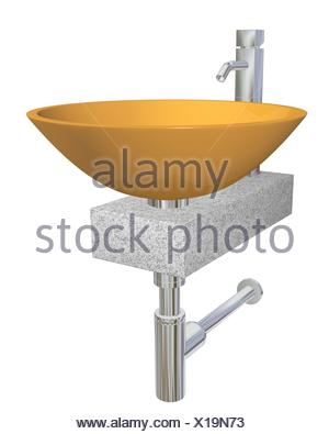 keramische badezimmer waschbecken isolierten auf wei en hintergrund stockfoto bild 82591518. Black Bedroom Furniture Sets. Home Design Ideas