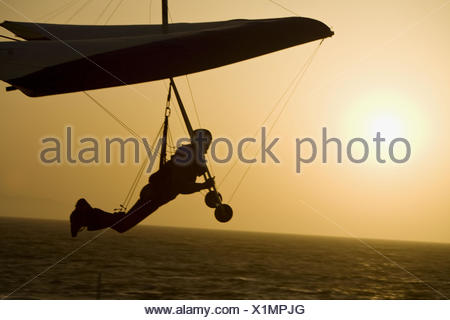 Mann Hand gleiten, Playa del Rey, Los Angeles, Kalifornien, USA - Stockfoto