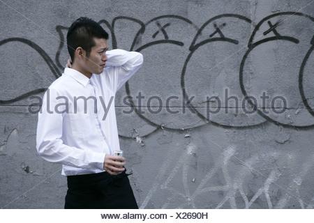 Ein Mann macht eine Pause - Stockfoto