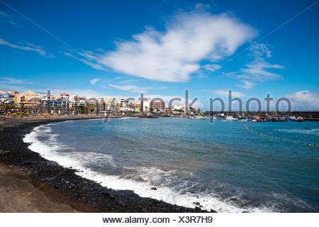 Strand, Meer, Playa San Juan, Playa de San Juan, Provinz Santa Cruz De Tenerife, Westküste, Teneriffa, Kanarische Inseln, Spanien, - Stockfoto
