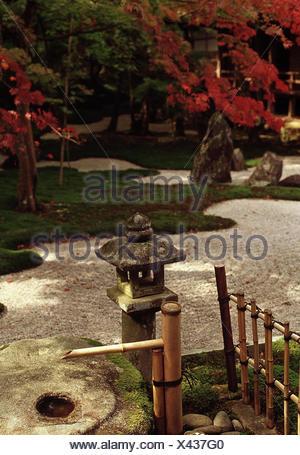 ... Japan, Kyushu, Dazaifu, Komiyo Ji Tempel, Ittekikaino Niwa Garten Innen