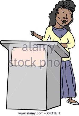 Vektor cartoon lächelnd weibliche Lehrer mit Zeiger auf Lektion an ...