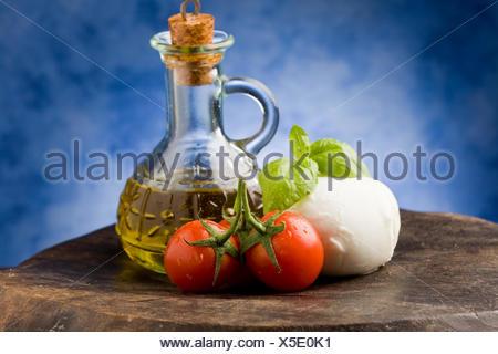 Tomate-Mozzarella - Stockfoto