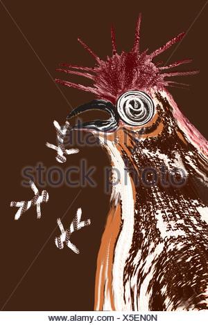 VOGELGRIPPE, ZEICHNUNG - Stockfoto