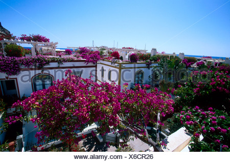 Erhöhte Ansicht des Hotel, Kanaren, Spanien, Europa - Stockfoto