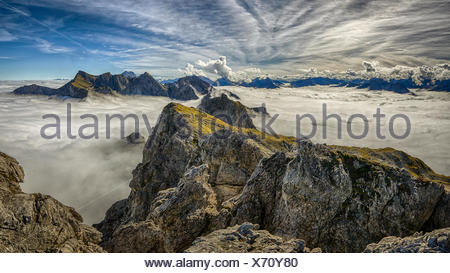 Klettersteig Kleinwalsertal : Kleinwalsertal mindelheimer klettersteig stockfoto bild