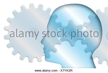 Prozess, konzeptionelle Computer Kunstwerk gedacht. - Stockfoto