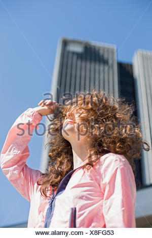 Porträt einer jungen Frau. Stockfoto