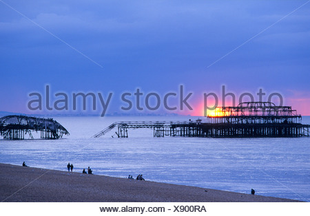 Europa, England, East Sussex, Brighton Pier West
