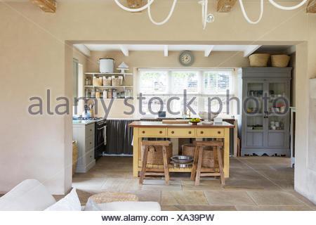 Inneren Luxus-Küche im Haus in Windermere, Florida Stockfoto, Bild ...