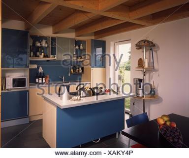Wohnhaus, Küche, Moderne, Live Sommer Ordentlich, Ferienhaus,  Ferienwohnung, Wohnung, Einbauküche, Kochinsel, Fokus, Kochfeld, Insel Koch  Feld Kochen ...