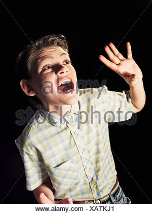 Verängstigten jungen schnappen - Stockfoto