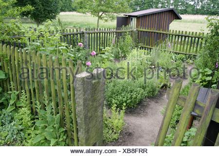 Kleiner Gartenzaun Kleiner Krautergarten Mit Einem Wodden Zaun
