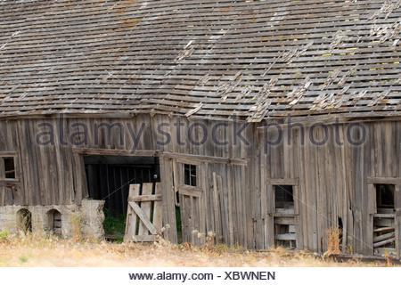Erbe Scheune, Walla Walla County, Washington. - Stockfoto