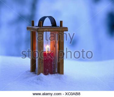 Schnee, Laterne, Dämpfer, Explosion Lampe, Windlicht, Flamme ...