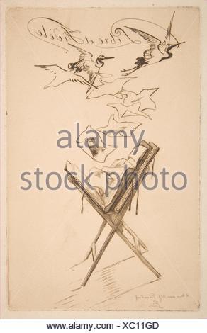Frontispiz für Katalog Der zweite Teil der wichtigen Sammlung moderner Radierungen, Kupferstiche und Lithographien, Eigentum von Monsieur