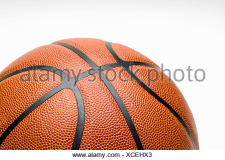 Studioaufnahme, Nahaufnahme von basketball - Stockfoto