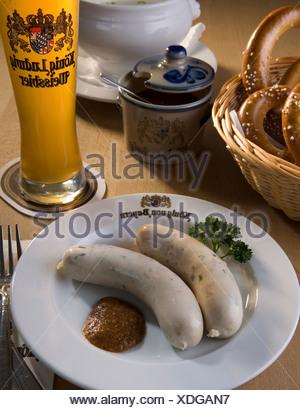 Bayerische Weißwurst - Stockfoto