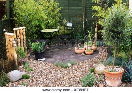 Kies Garten Mit Bambus, Sandringham Flower Show, Designer Entwerfen Nicola  Glasel Kleingärten Entwirft Kiesel