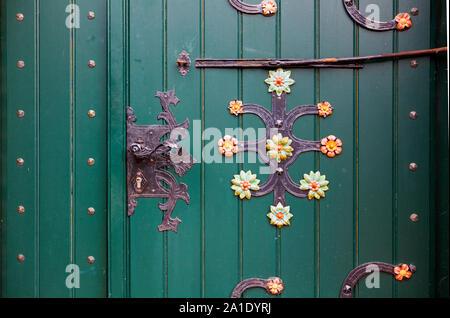 Entrada de la iglesia de San Matías, Jork, Altes Land, Baja Sajonia, Alemania, Europa