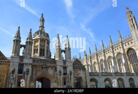 Los edificios en el King's College de Cambridge, Reino Unido